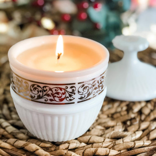 Scented Candles, Milk Glass, Thinking Of You Gift