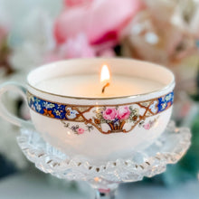 Mismatched Teacup Candles, Vintage China, Wedding Candle Favors