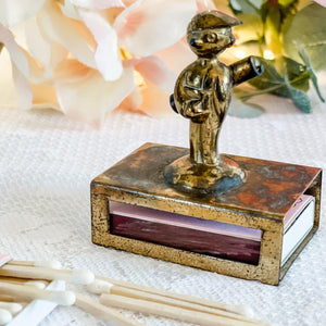 Vintage Brass Match Book Holder, Antique Match Holder, Unique Gifts