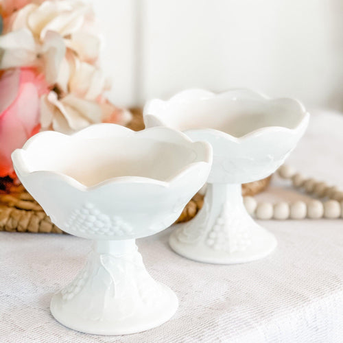Candle Holder, Milk Glass, Farmhouse Decor, Wedding Gift