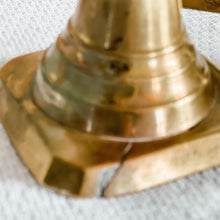 Vintage Candle Holder, Brass Candlesticks, Wedding Decor