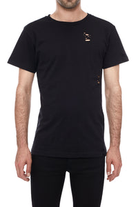 Holey Fit Black T-Shirt