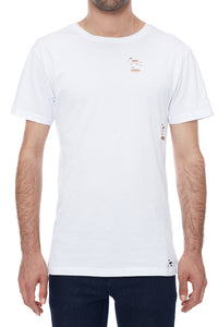 Holey Fit White T-Shirt