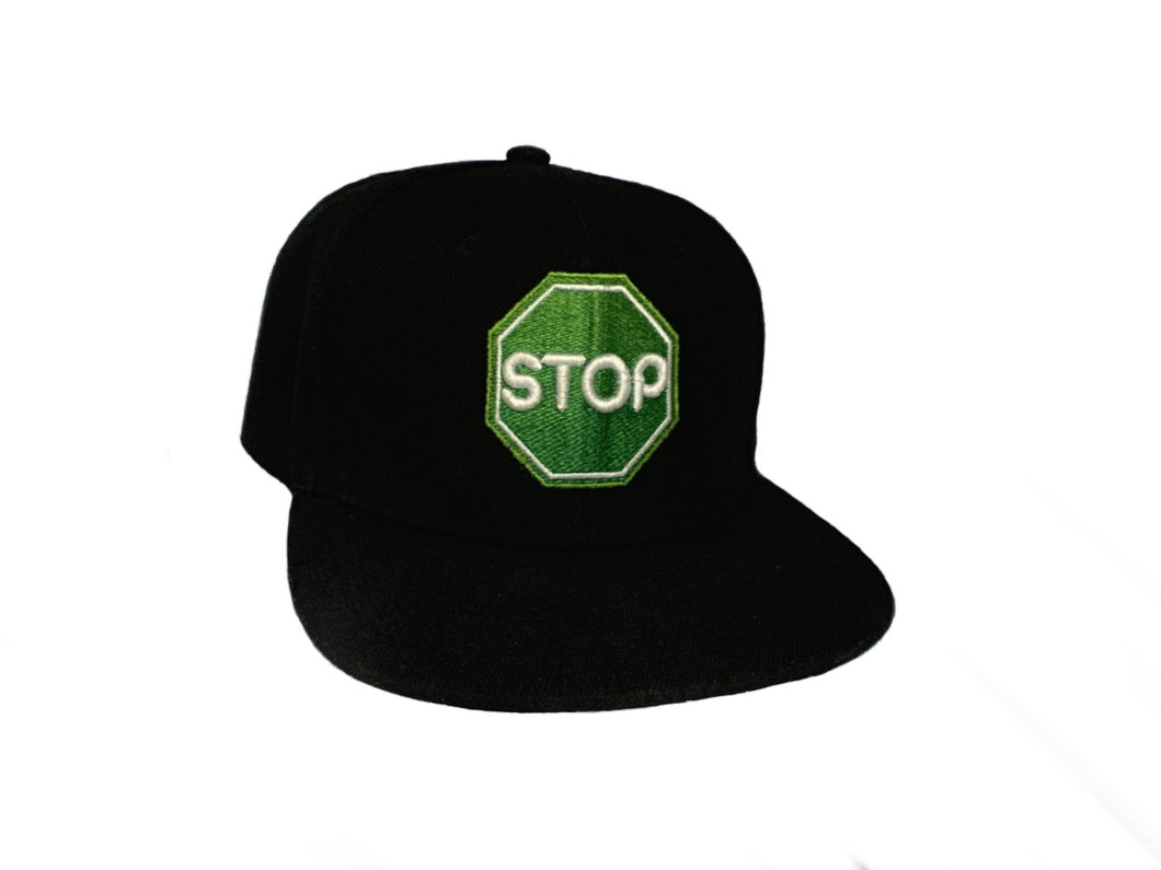 GreenSTOP Snap Back black hat