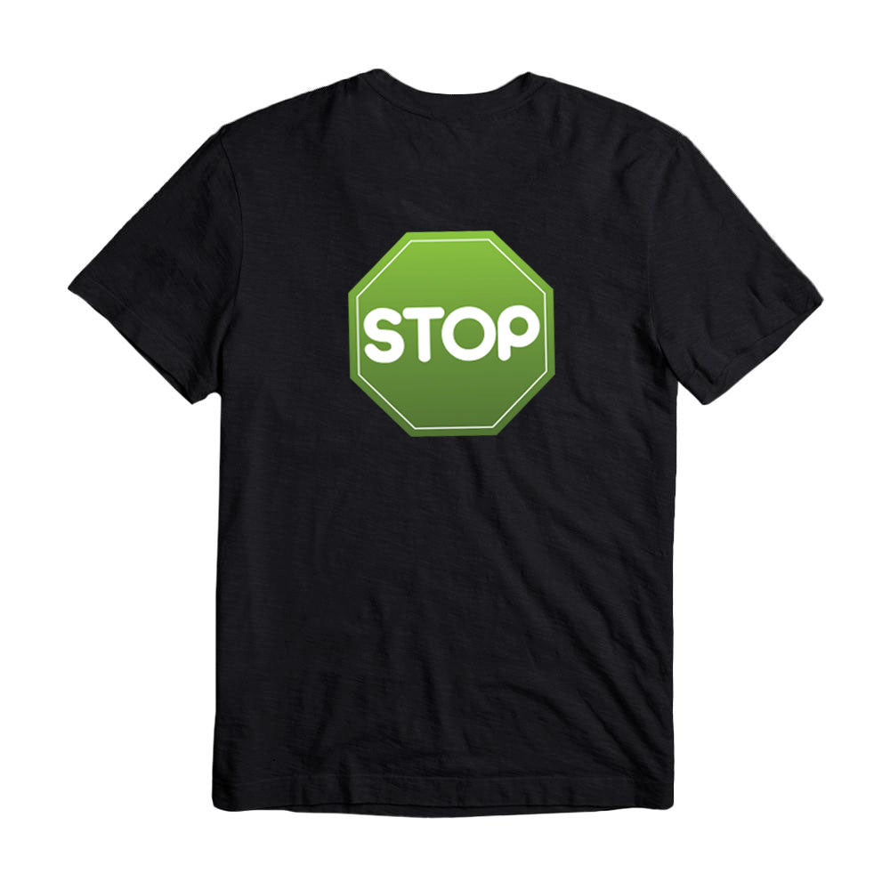 Black T- Shirt Big GreenSTOP logo