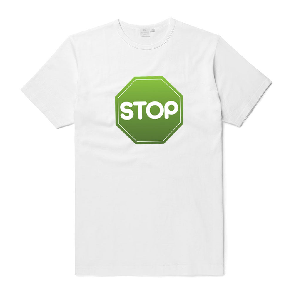 White GreenSTOP Logo'd T-shirt