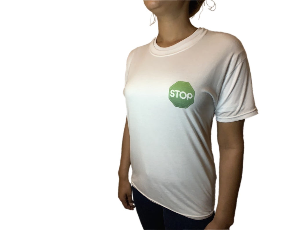 Women's White T Shirt jr Logo