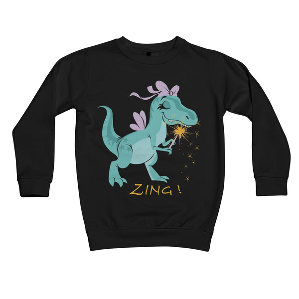 Lil' Fairy T-Rex  Kids Sweatshirt
