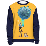Grandma Dolphin VR 3000 Holiday Sweater - Navy