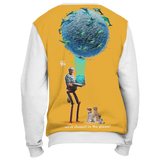 Grandma Dolphin VR 3000 Holiday Sweater - White
