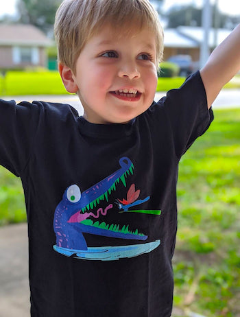 Croc Teeth Toddler Tee