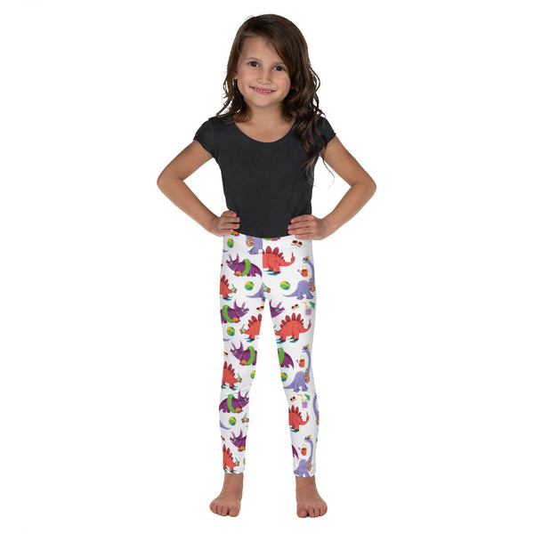 Dinostorus Beach Dino Youth Leggings (front)