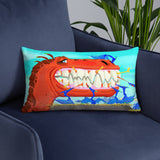 T-Rex Teeth Clean Pillow
