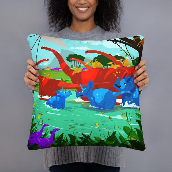 Dinostorus River Hangout Pillow