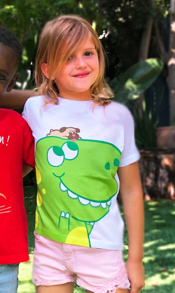 Pug and T-Rex Toddler Tee