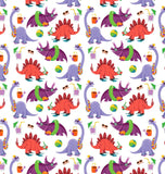 Dinostorus Beach Dino Youth Leggings Pattern Closeup