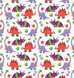 Dinostorus Beach Dinos Shower Curtain Pattern Closeup