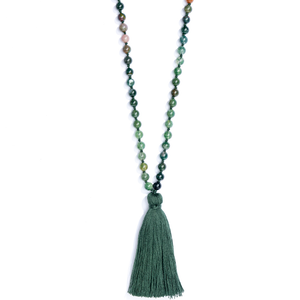 I am Beautiful Mala Necklace - Luna & Soul Sustainable Yoga wear