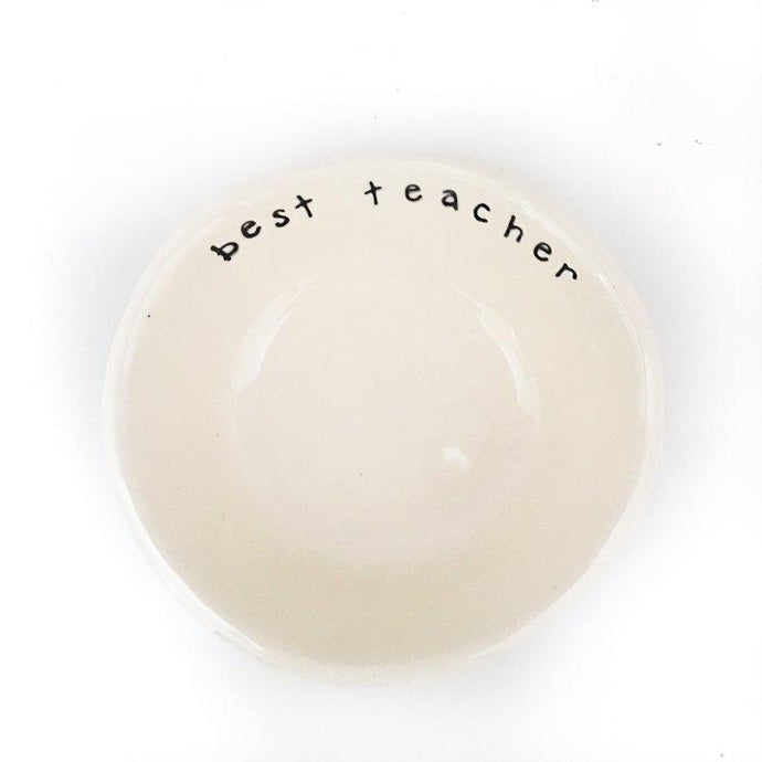Best Teacher Ceramic Bowl Luna & Soul Eco-friendly Yoga & Activewear
