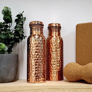 Ayurvedic Hammered Copper Bottle - Luna & Soul Active