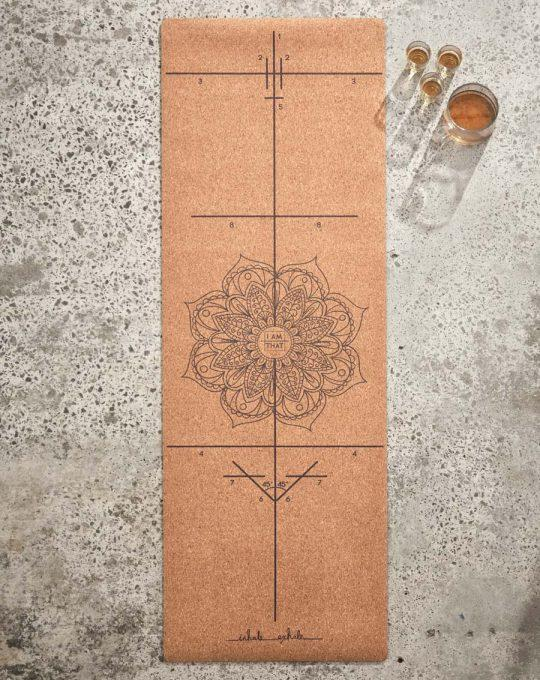 Eco-Friendly Cork & Rubber Lux Yoga Mat - Luna & Soul