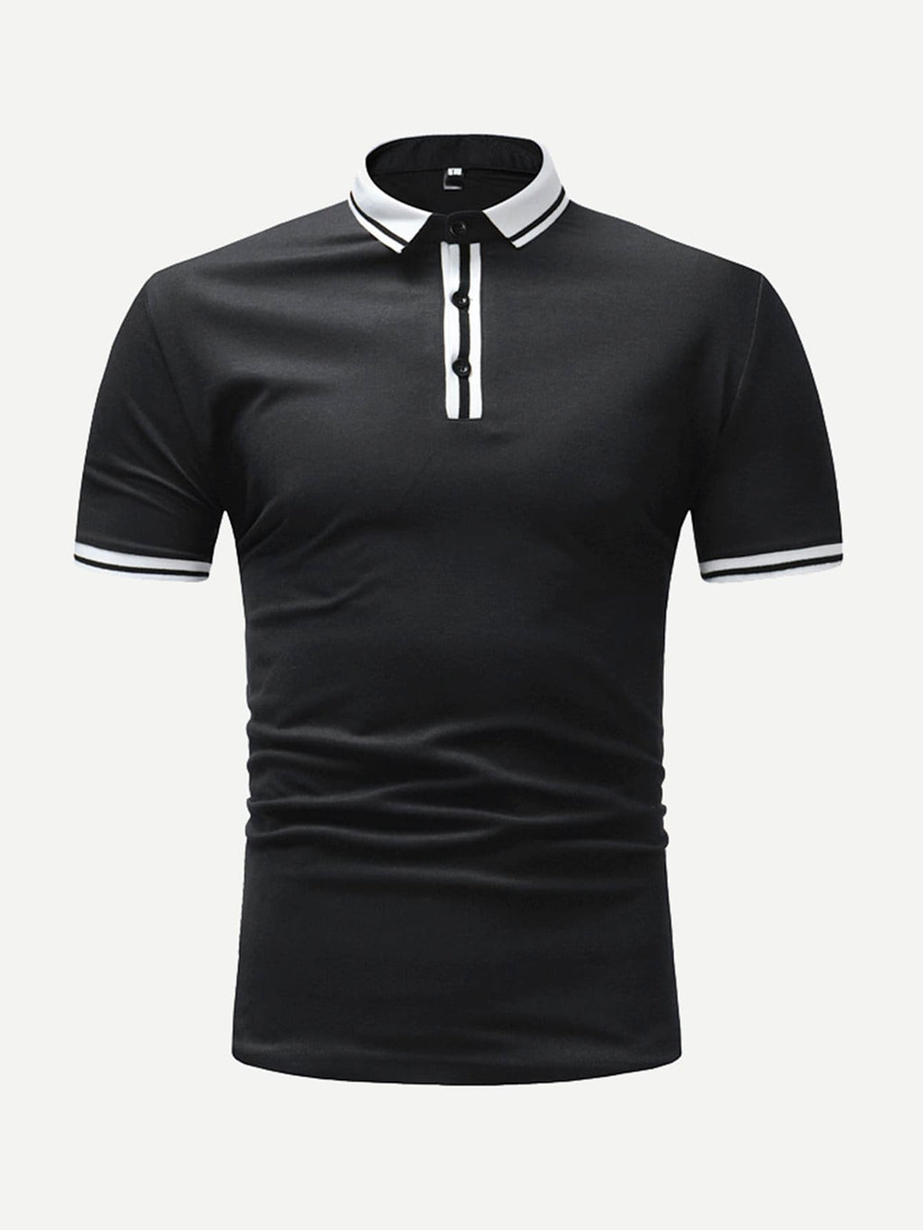 Men Varsity Striped Polo Shirt