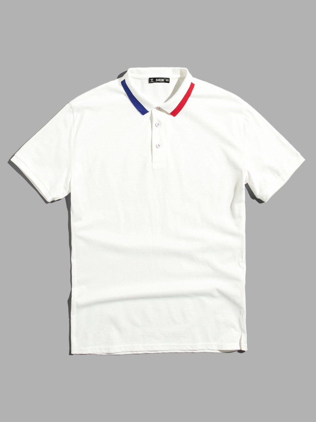 Men Striped Collar Polo Shirt