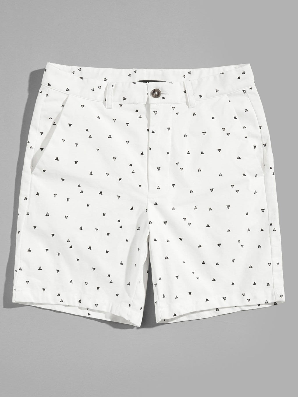 Men Slant Pocket Geo Print Shorts