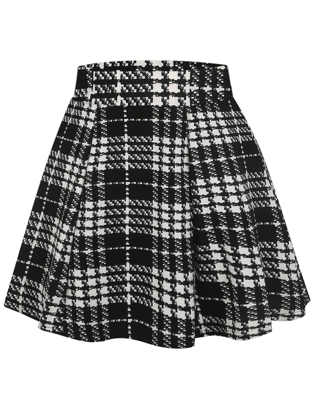 50s Plaid Print Skirt