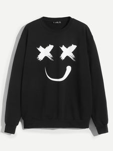 Men Cartoon Print Pullover