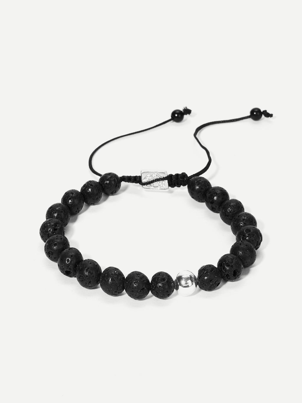 Men Textured Beaded Bracelet