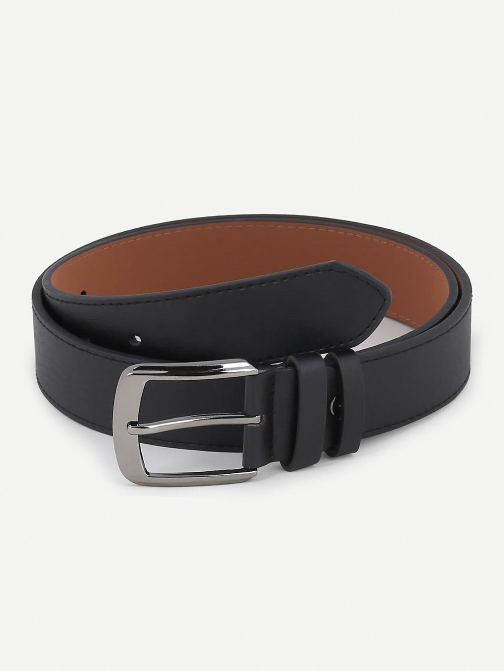 Men Plain Metal Buckle Belt