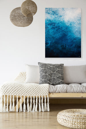 Salacia (Abstract Fluid Acrylic) Canvas Print - SAB Art Studio