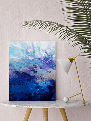 Electra (Abstract Fluid Acrylic) Canvas Print - SAB Art Studio