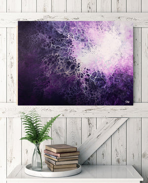 Nebulas (Abstract Fluid Acrylic) - SAB Art Studio