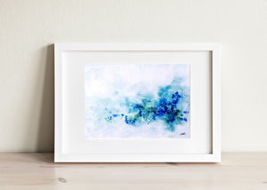 Pacific Blue (Original Abstract Watercolor) - SAB Art Studio