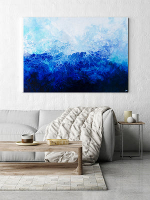 Renata (Abstract Fluid Acrylic) Canvas Print - SAB Art Studio