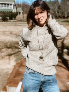 Oatmeal Mock Sweater