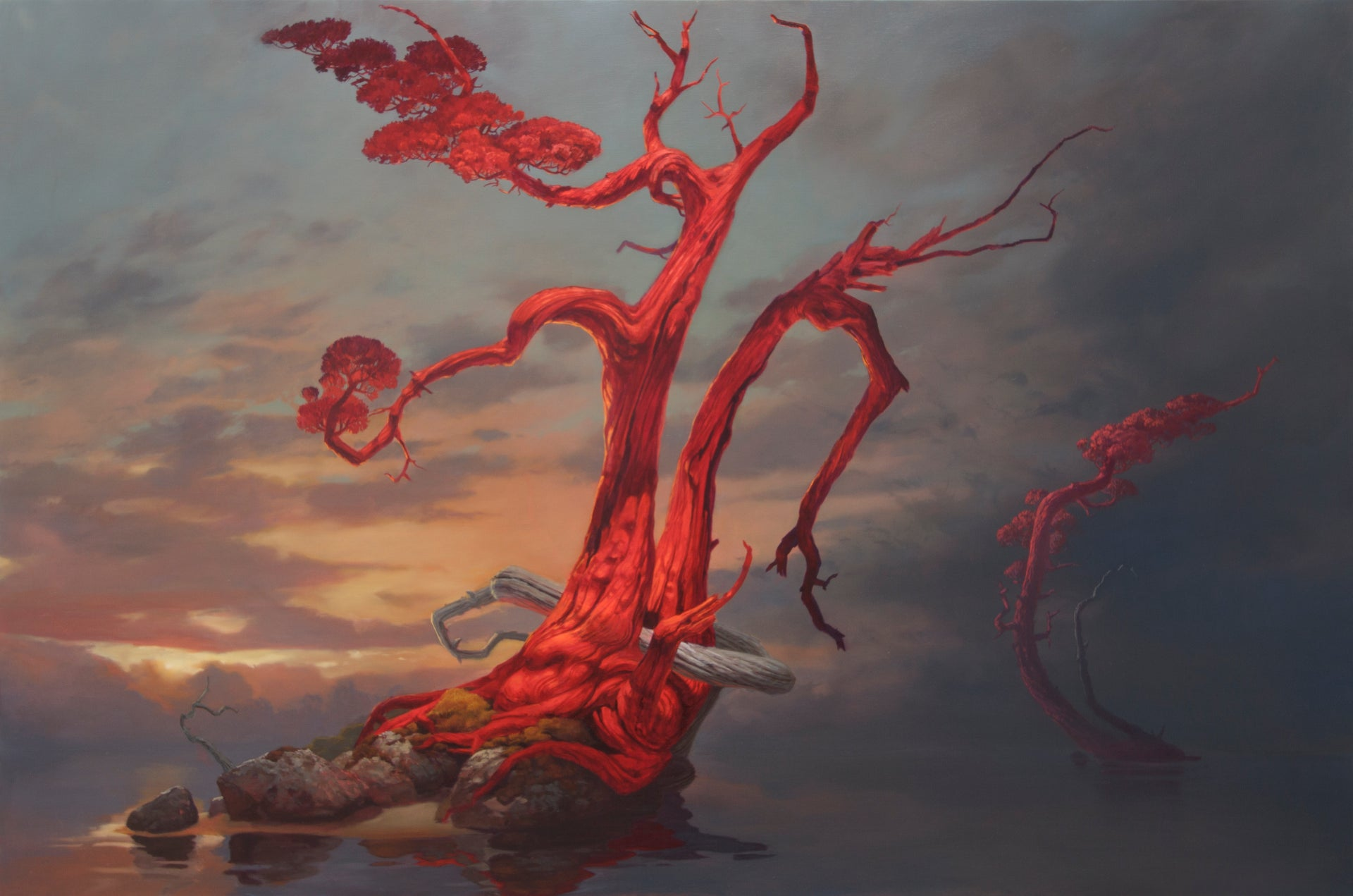 The Red Tree is alone