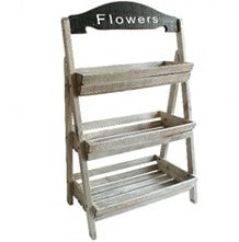 Flowers Wooden Display Stand - The Burrow Interiors