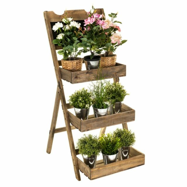 Potted Flower Display Stand - The Burrow Interiors