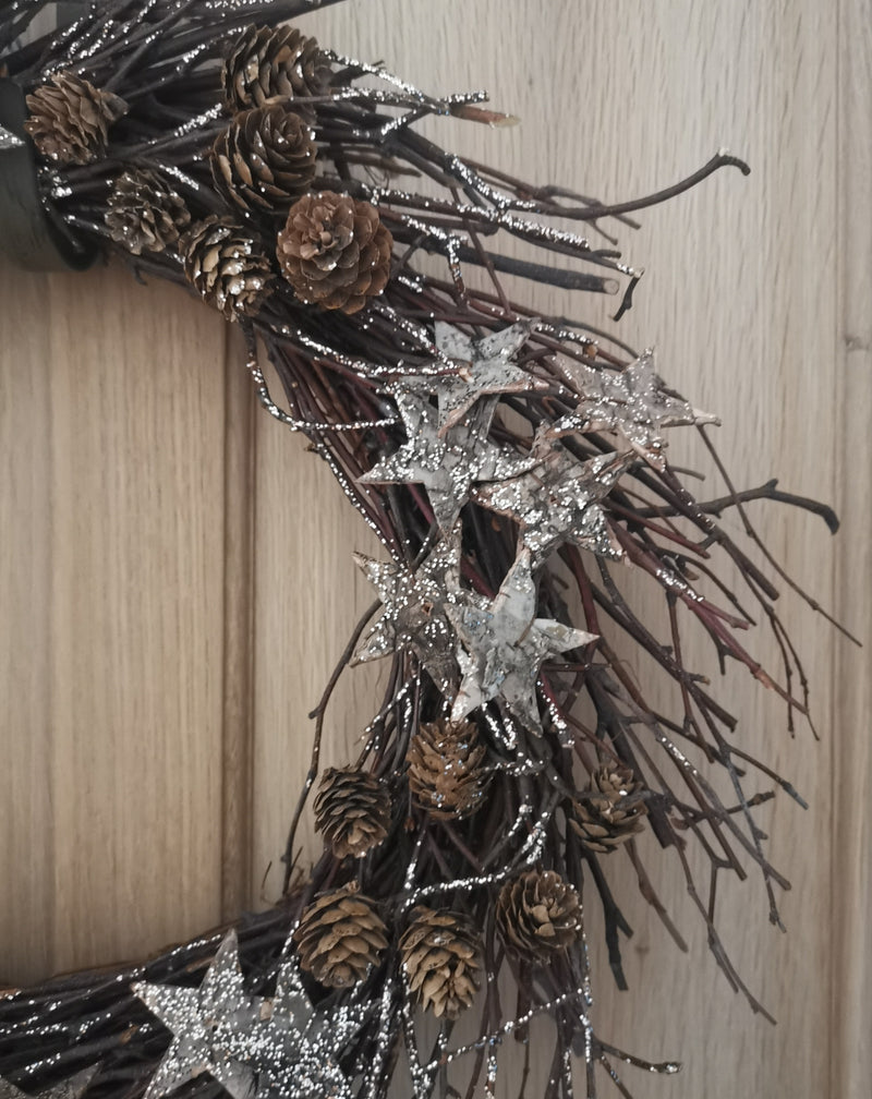 Rustic Christmas Twig Wreath - TBI