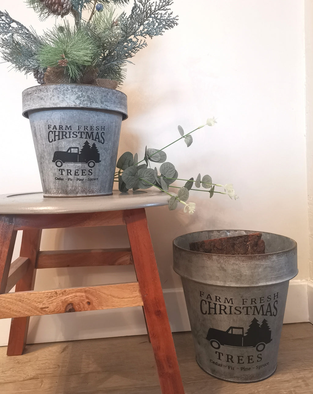 Farm Fresh Christmas Bucket (Two Sizes)