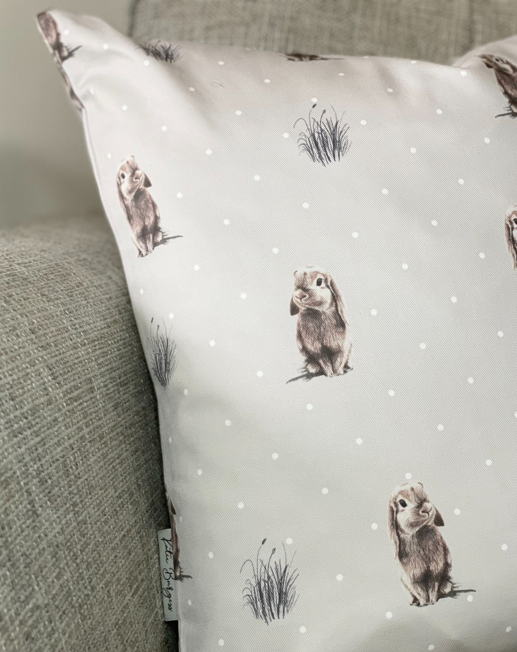 Grey Bunny Cushion - TBI