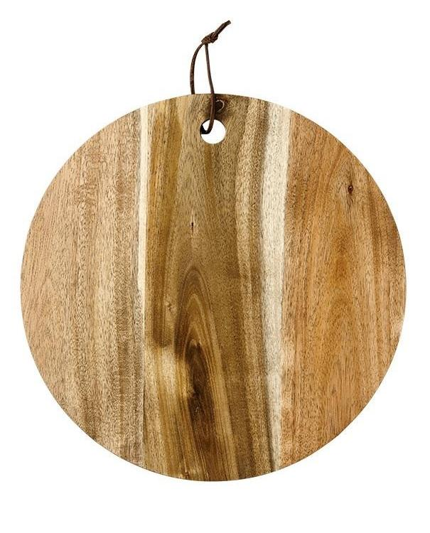Round Acacia Wood Serving Board | TBI