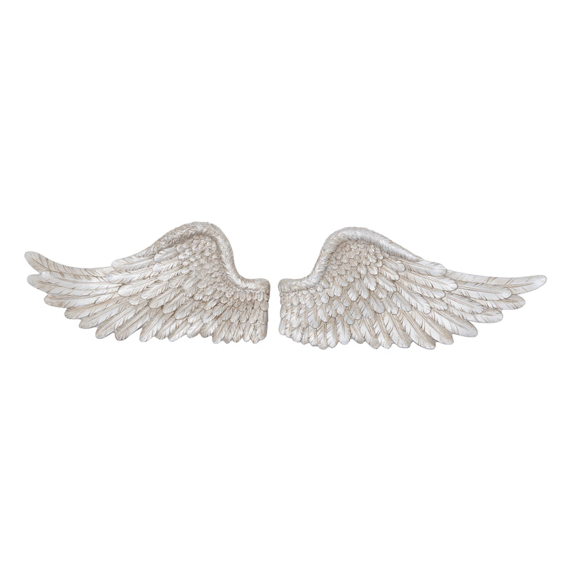 Antique Silver Angel Wings - TBI