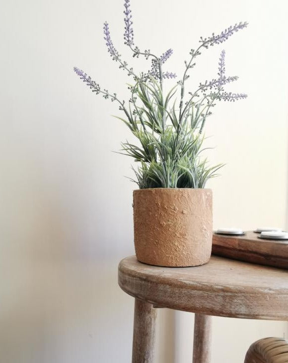 Artificial Lavender in Ceramic Pot - TBI