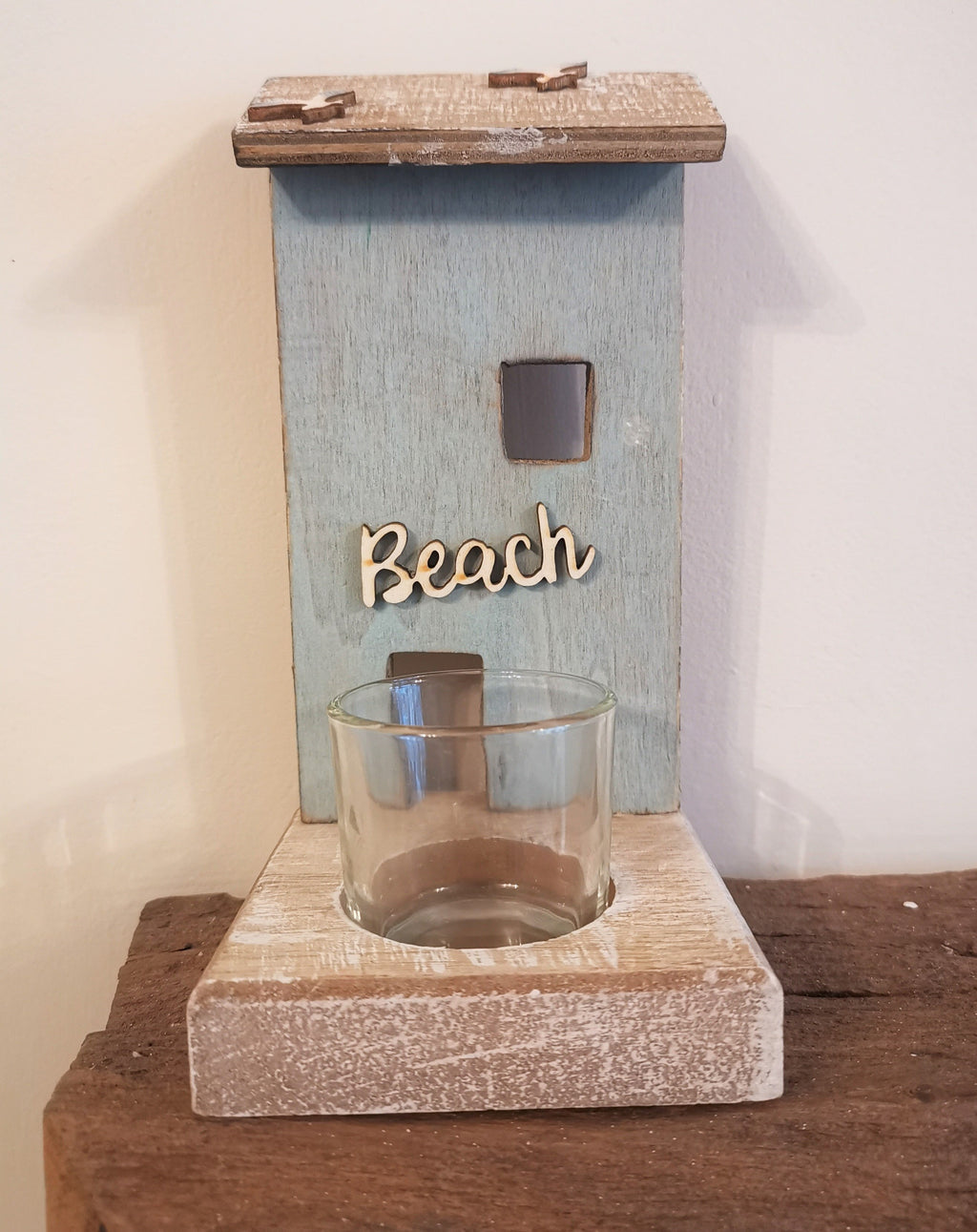 Beach Hut Candle Holder - The Burrow Interiors