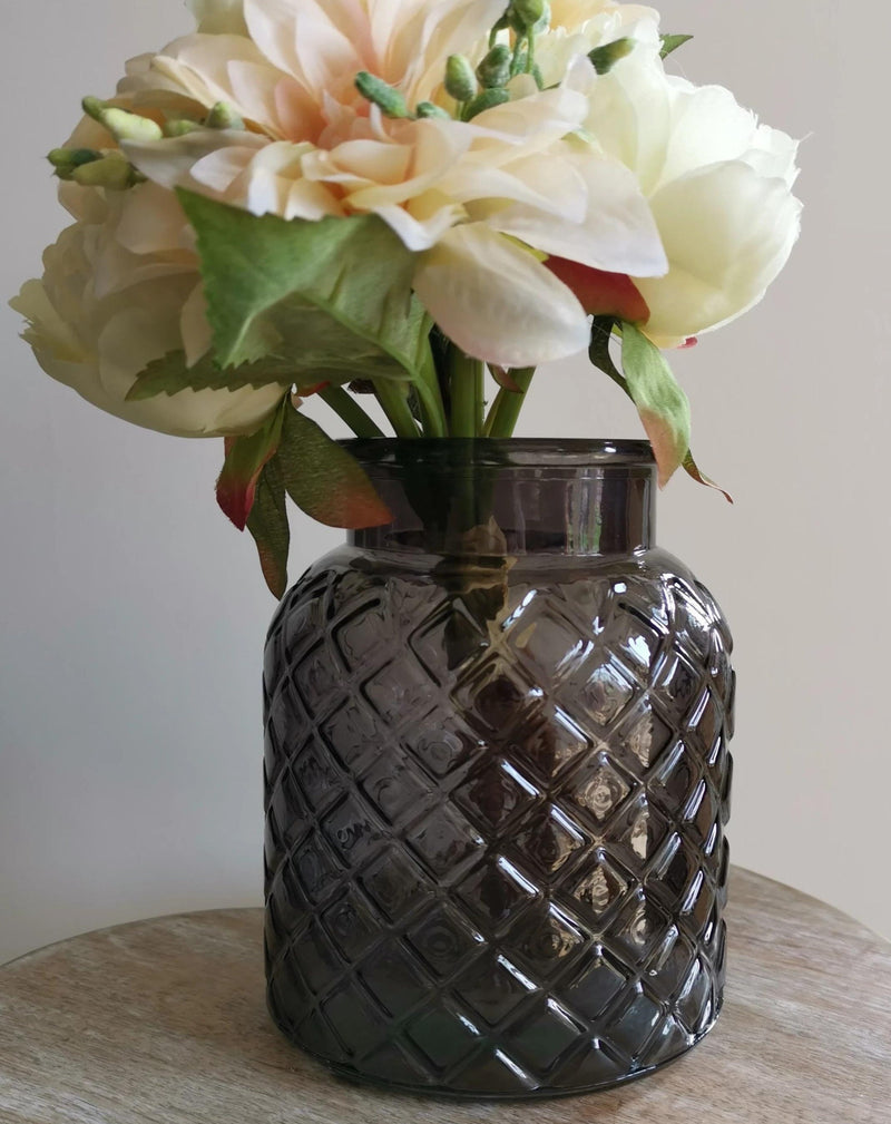 Charcoal Lattice Vase - TBI