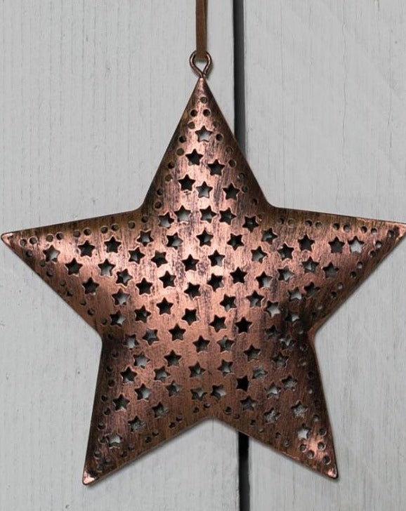 Copper Christmas Star Hanging Decoration